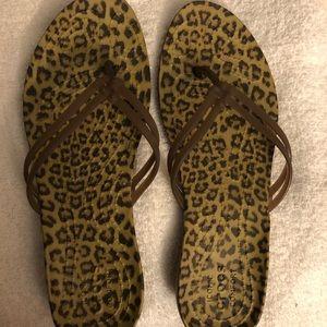 Crocs Brown Leopard Sandals